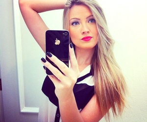 beautiful, girl, and iphone image