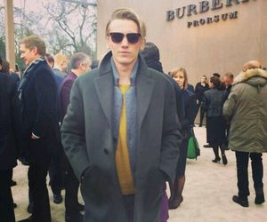 Jamie Campbell Bower and Burberry image