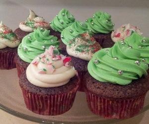 cake, cupcakes, and x-mas image