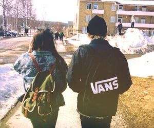couple, vans, and girl image