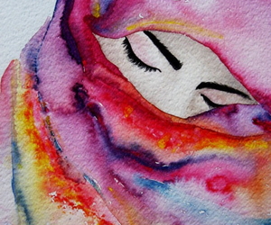 art, hijab, and colors image