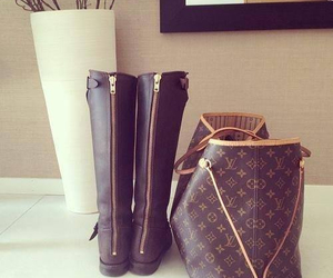 boots, bag, and Louis Vuitton image