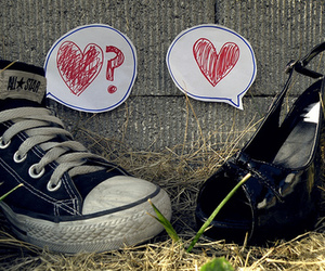 all star, shoes, and heart image