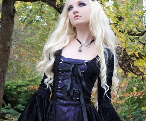 goth, gothic, and dress image