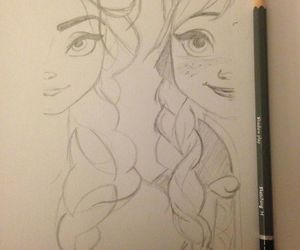 frozen, disney, and drawing image