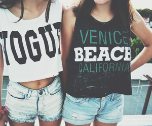 beach, fashion, and friends image