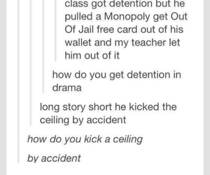detention, drama, and funny image