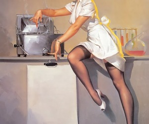 sexy, vintage, and Pin Up image