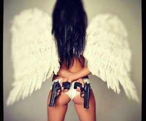 angel, gun, and brave image