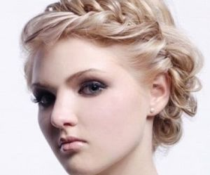 pretty, updo, and hairstyle image