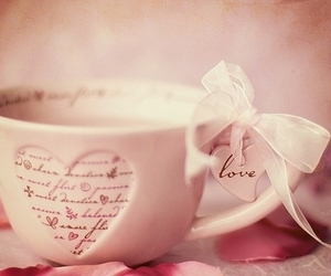 love, cup, and pink image