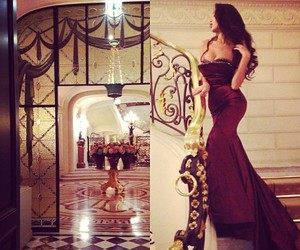 dress, luxury, and beauty image