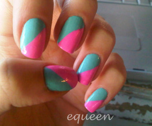 color, pink, and turquoise image