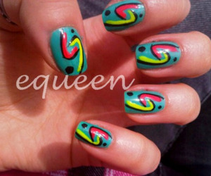 color, neon, and nailart image