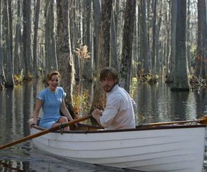 the notebook, boat, and couple image
