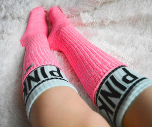 pink, socks, and cute image