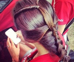 artsy, braid, and casual image