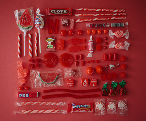red, candy, and sweet image