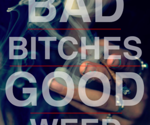 quote, smoke, and weed image