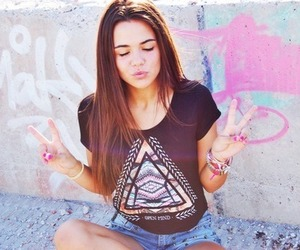 girl, peace, and hipster image