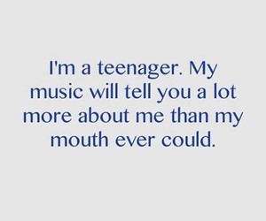 music, teenager, and quote image