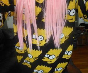 bart, pink, and girl image