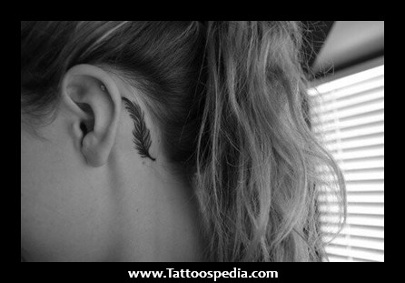 Small Girly Tattoos Behind Ear On We Heart It