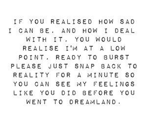 quote, sad, and wish image