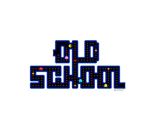 old school and Pac Man image