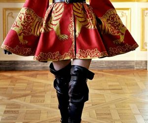 fashion, red, and Alexander McQueen image