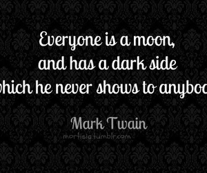 mark twain, moon, and quote image