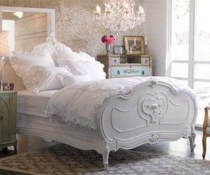 bed, decor, and interior decor image