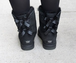 ugg, black, and boots image