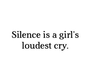 silence, cry, and girl image