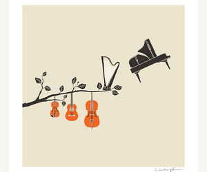 music, illustration, and piano image