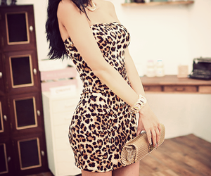 leopardo, print, and vestido image