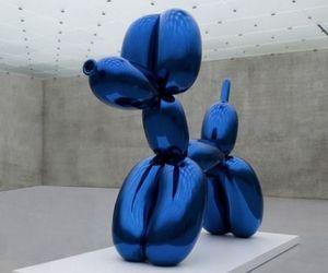 art, blue, and dog image