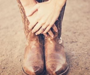 country, western boots, and natural image