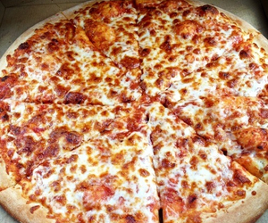food, pizza, and cheese pizza image