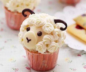 cupcake, cute, and sheep image