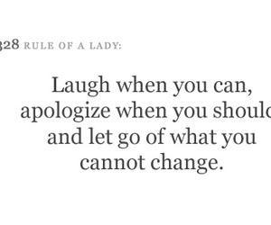 apologize, laugh, and life image
