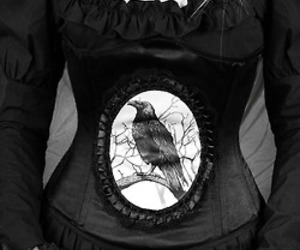 clothes, corset, and crow image