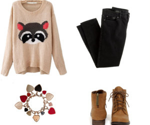 bracelet, girl, and sweater weather image
