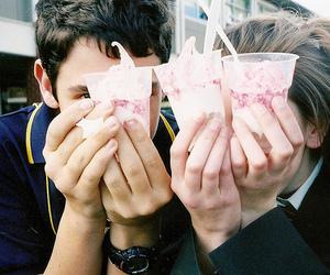 couple, boy, and ice cream image
