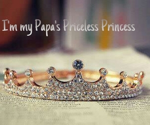 crown, daughter, and papa image