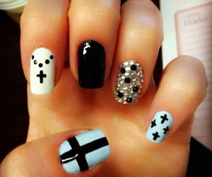 cross, nails, and black image