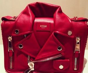 bag, red, and Moschino image