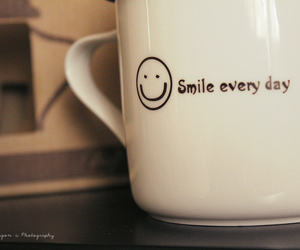 smile, cup, and day image