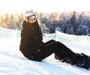 fun, girl, and snow image