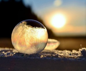 bubbles, winter, and frozen image